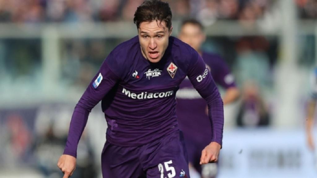 Fiorentina star Federico Chiesa.