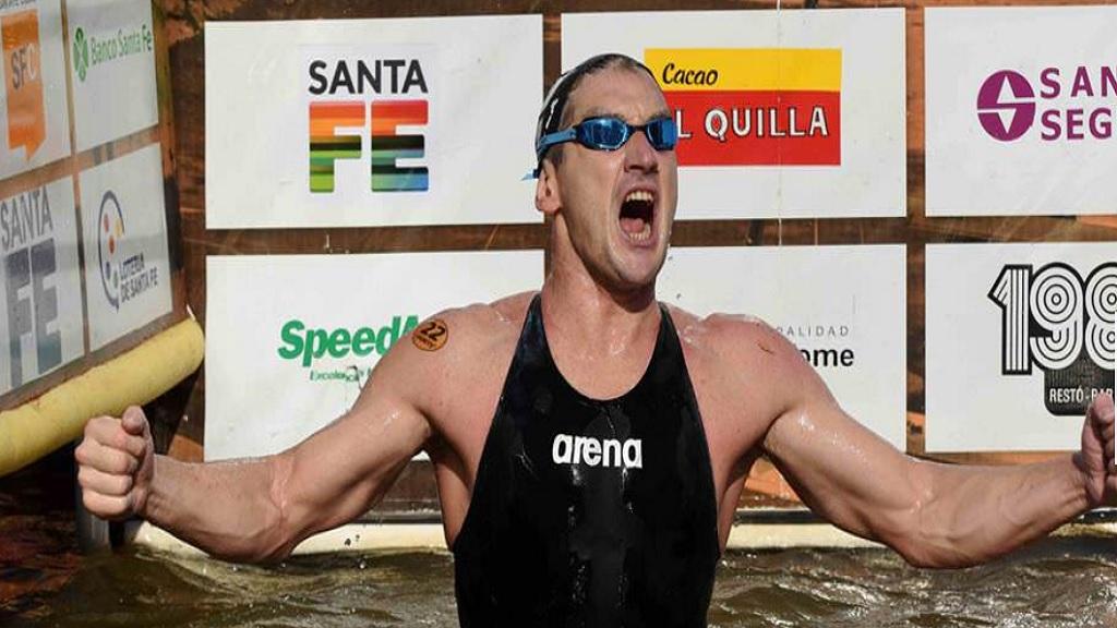 Argentine swimmer Guillermo Bertola.