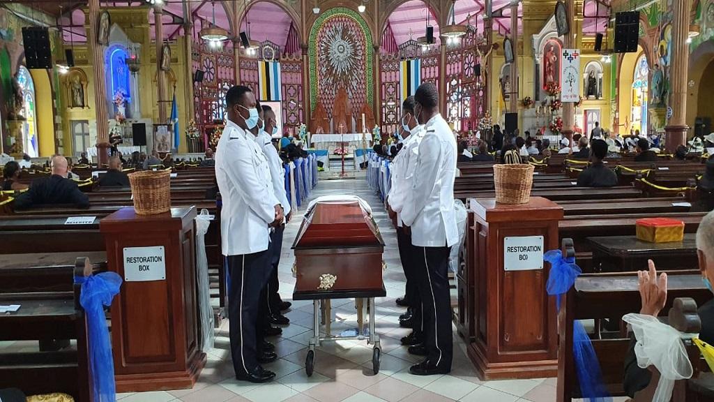 Joyce Auguste's funeral was held June 24, 2020