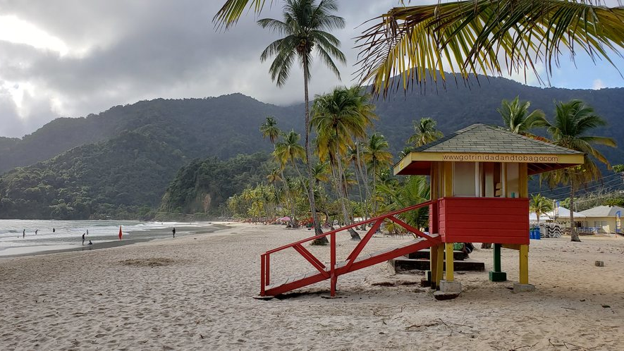 Pictured: Lifeguard booth at Maracas Beach. Photo by Darlisa Ghouralal.