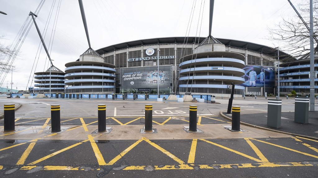 The Etihad Stadium, home of Manchester City.