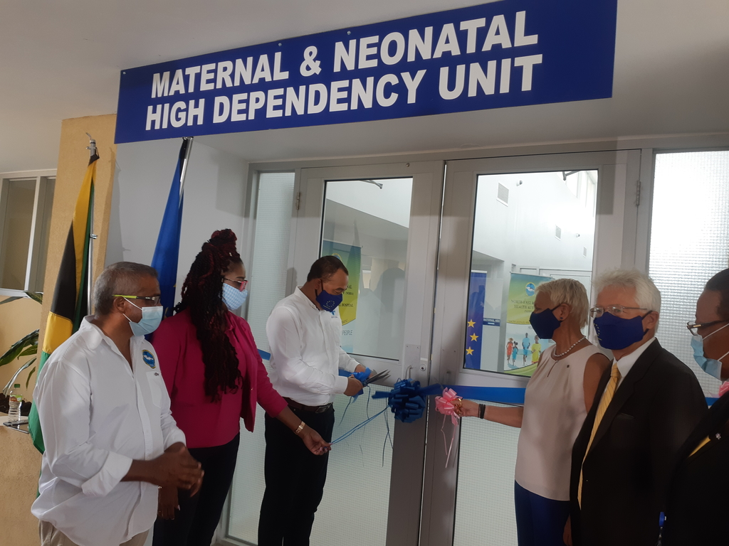 Health Minister Dr Christopher Tufton was joined by  European Union Ambassador Malgorzata Wasilewska and other stakeholders for the official opening of the neonatal unit at the St Ann's Bay Hospital.