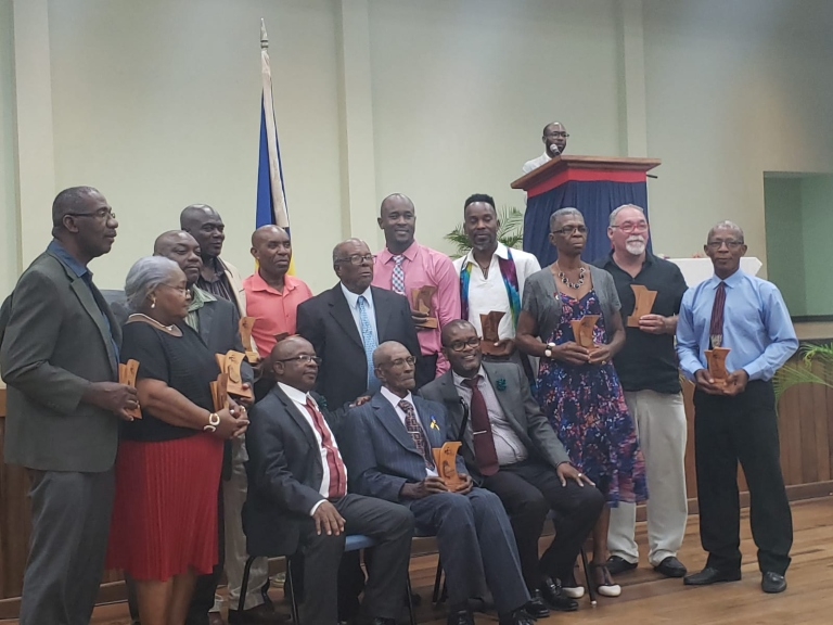 St. Lucy's Pride of Barbados awardees in January, 2020