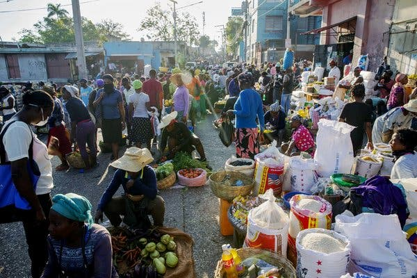 A market last week in Port-au-Prince, Haiti, where doctors are preparing for an outbreak of coronavirus. Credit...Chery Dieu-Nalio for The New York Times