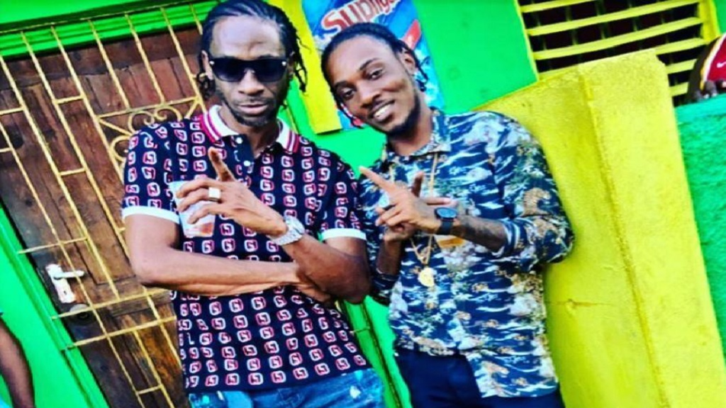 Maestro Don (rigt) with dancehall legend Bounty Killer.