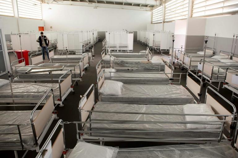 Des lits vides dans le centre olympique haïtien, à Port-au-prince, le 23 juin 2020 afp.com - Estailove ST-VAL