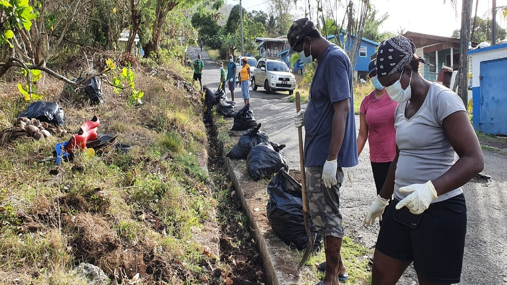 Clean up in Piat, Grande Riviere