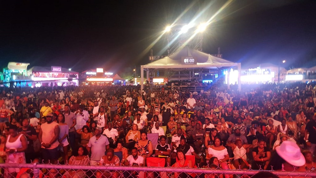 Loop file photo shows patrons of Reggae Sumfest gathered at the Catherine Hall Entertainment Complex.