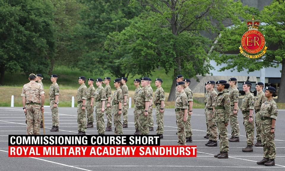Officers currently receiving training at the British Army's Sandhurst training college