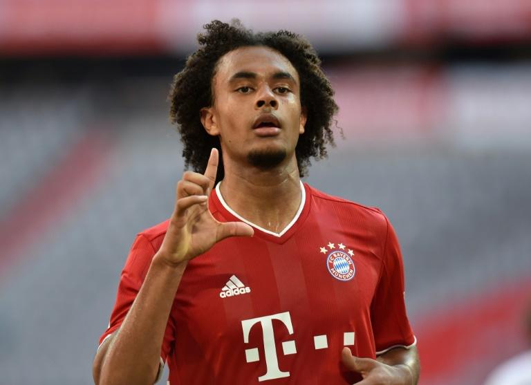 Le milieu néerlandais Joshua Zirkzee a marqué pour le Bayern lors du match de Bundesliga face au Borussia Mönchengladbach, à Munich, le 13 juin 2020