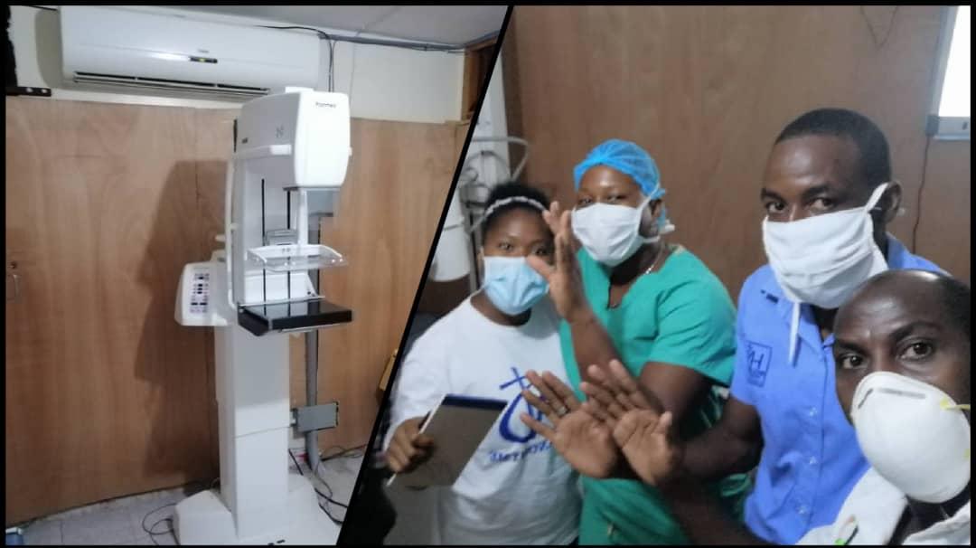 A gauche, un matériel de radiographie, a droite, des initiateurs du projet proposé par l'Ecole Supérieur Infotronique d'Haïti. Photos : Site internet Agence Universitaire de la Francophonie (AUF).
