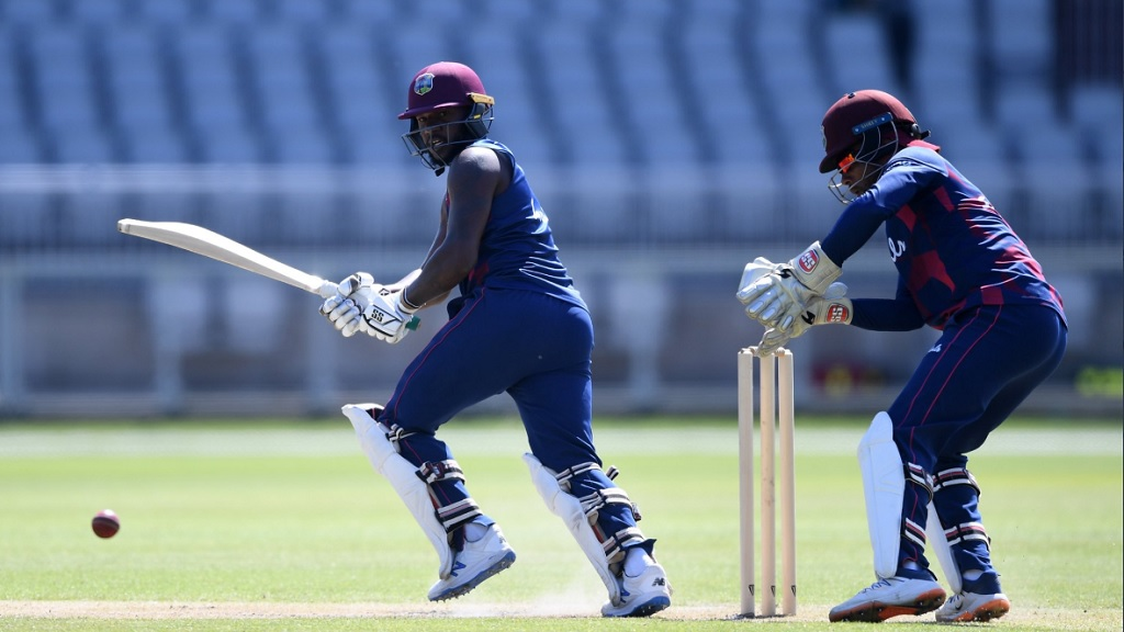 Action from the West Indies intra-squad match at Emirates Old Trafford on Thursday, June 25, 2020. (PHOTO: Cricket West Indies).