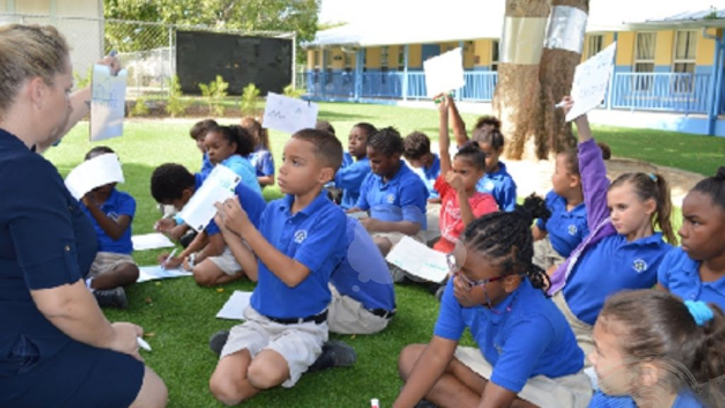 Students at Savannah Primary School; Image source: Cayman Department of Education