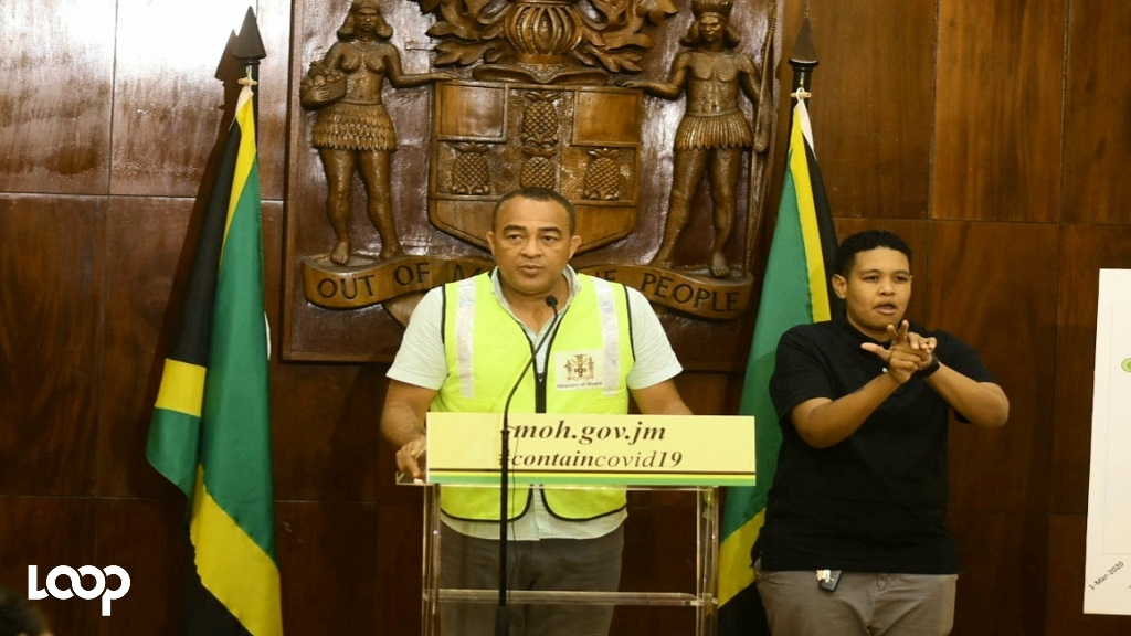 Dr Christopher Tufton addresses journalists at a press conference. (File photo)