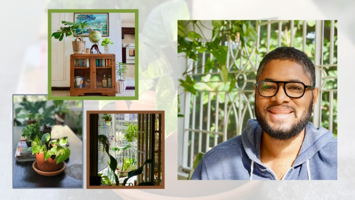 Andrew Walcott, the 'plant daddy' behind Wally's Garden shares his love for green spaces. (Photos: Contributed)