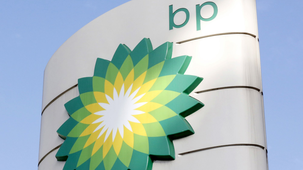 FILE - This Tuesday, August 1, 2017 file photo shows the BP logo at a petrol station in London. (AP Photo/Caroline Spiezio, File)