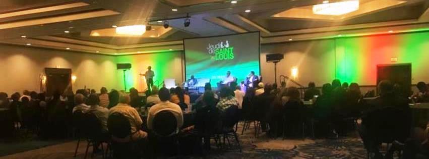 Vue de l'assistance lors d'une séance des Jeudi de Saint-Louis à l'Hôtel Karibe. Crédit photo: JDSL/Page de couverture Facebook