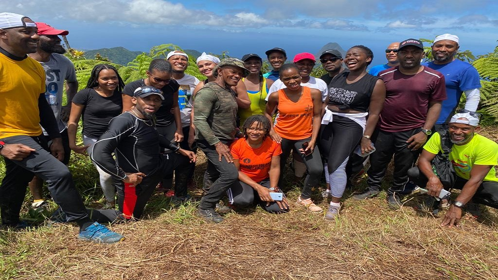 Group of hikers tackle Mount Gimie
