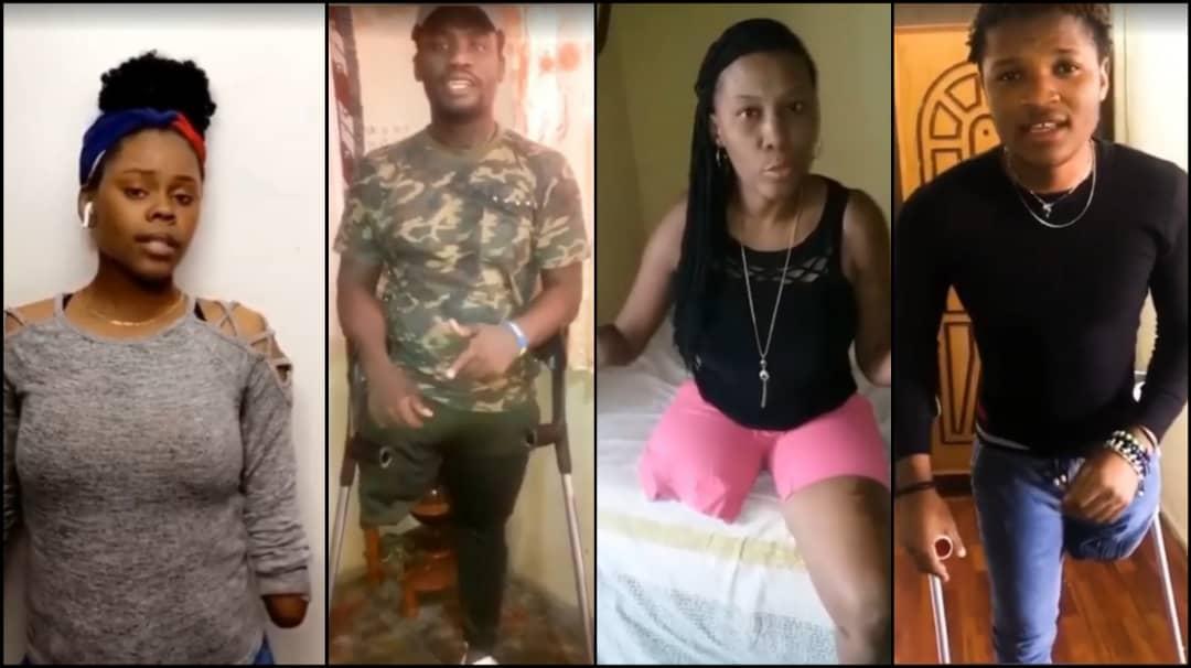 Capture d'écran de la vidéo de sensibilisation des personnes à mobilité réduite en Haïti. Collage : Loop Haïti
