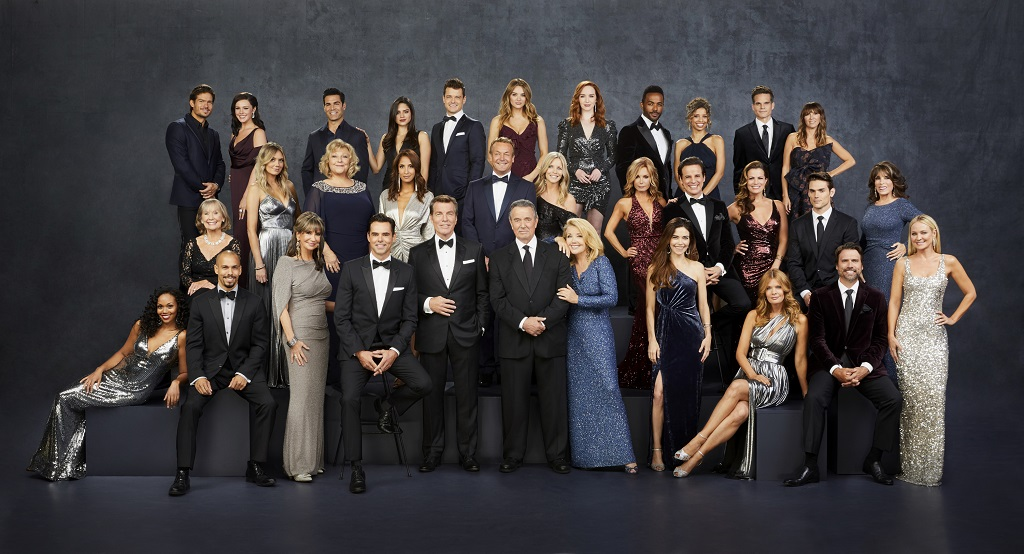 "This image released by CBS shows the cast of the daytime drama series ""The Young and the Restless."" The long-running daytime drama won the Emmy for outstanding drama series at the 47th annual Daytime Emmy Awards. (Sonja Flemming/CBS via AP)"
