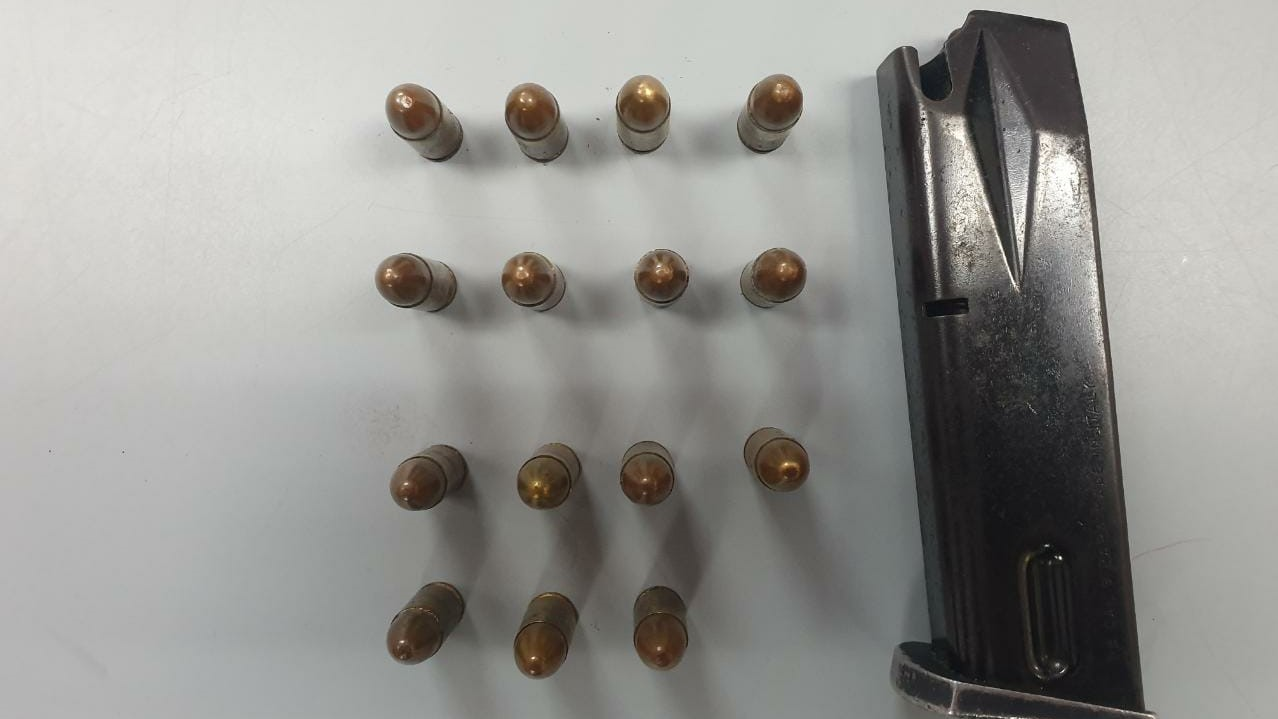 These items were seized in a police exercise conducted in Carenage hours before a shooting took place.