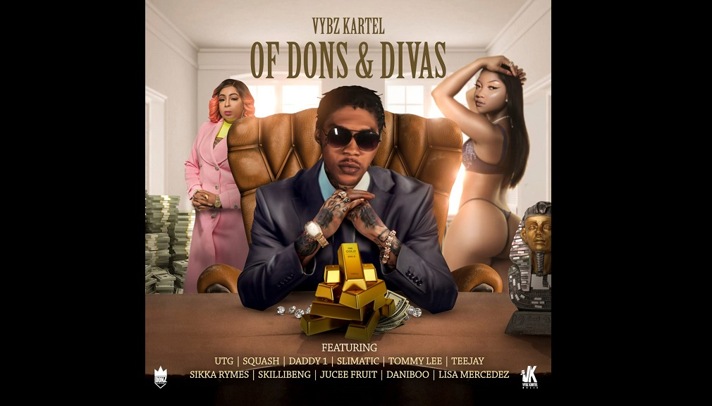 "The cover art for Vybz Kartel's upcoming album, ""Of Dons and Divas""."
