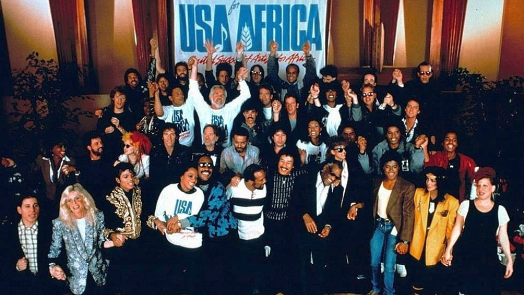 We are the World cast who sang to raise funds for Africa (Internet image)