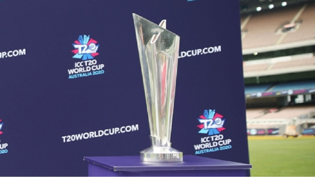 The ICC T20 World Cup 2020 trophy.