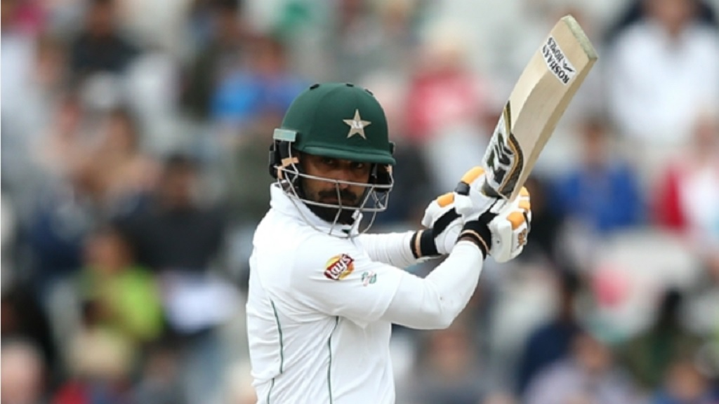 Mohammad Hafeez in action.