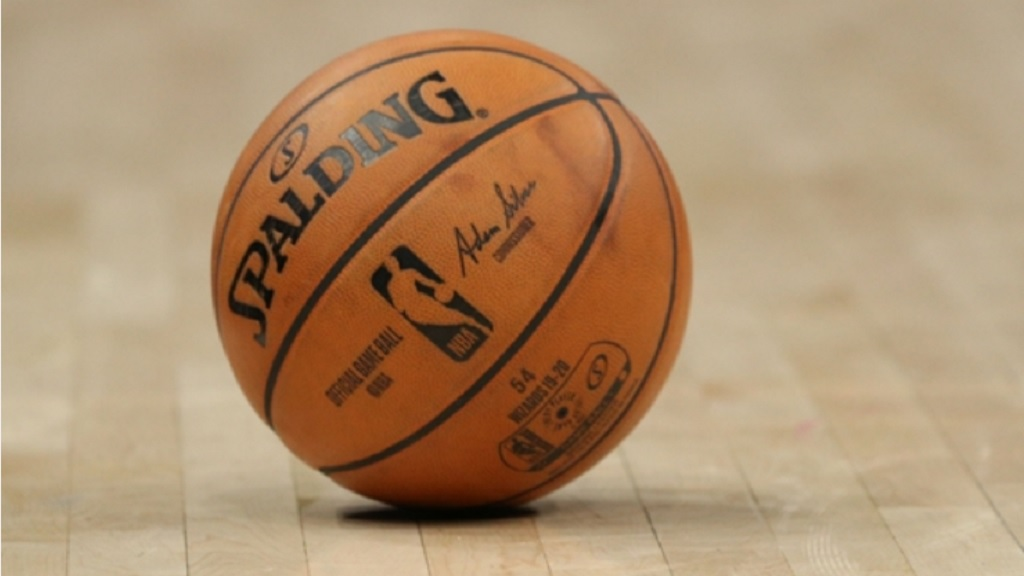 View of an NBA ball.