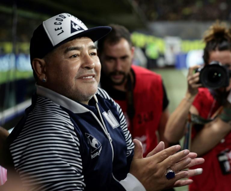 L'entraîneur de Gimnasia La Plata avant un match contre Boca Juniors, à La Bombanera, le 7 mars 2020 ALEJANDRO PAGNI AFP/Archives