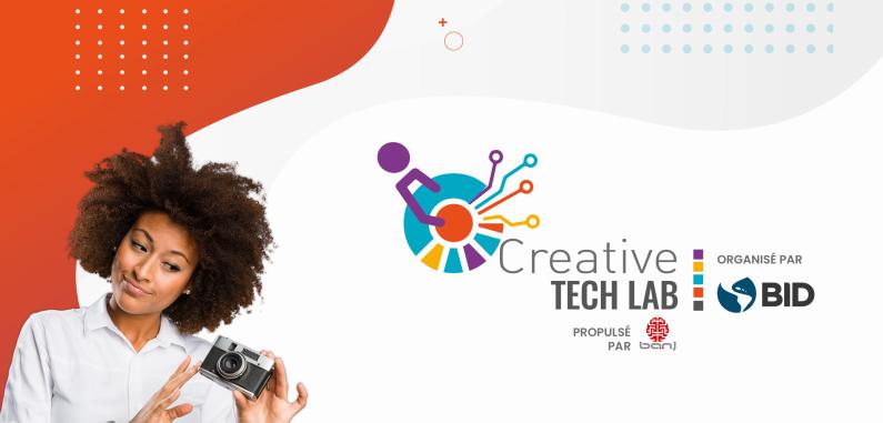 """Capture d'écran de l'affiche annonçant l'organisation du """"Creative Tech Lab""""."""