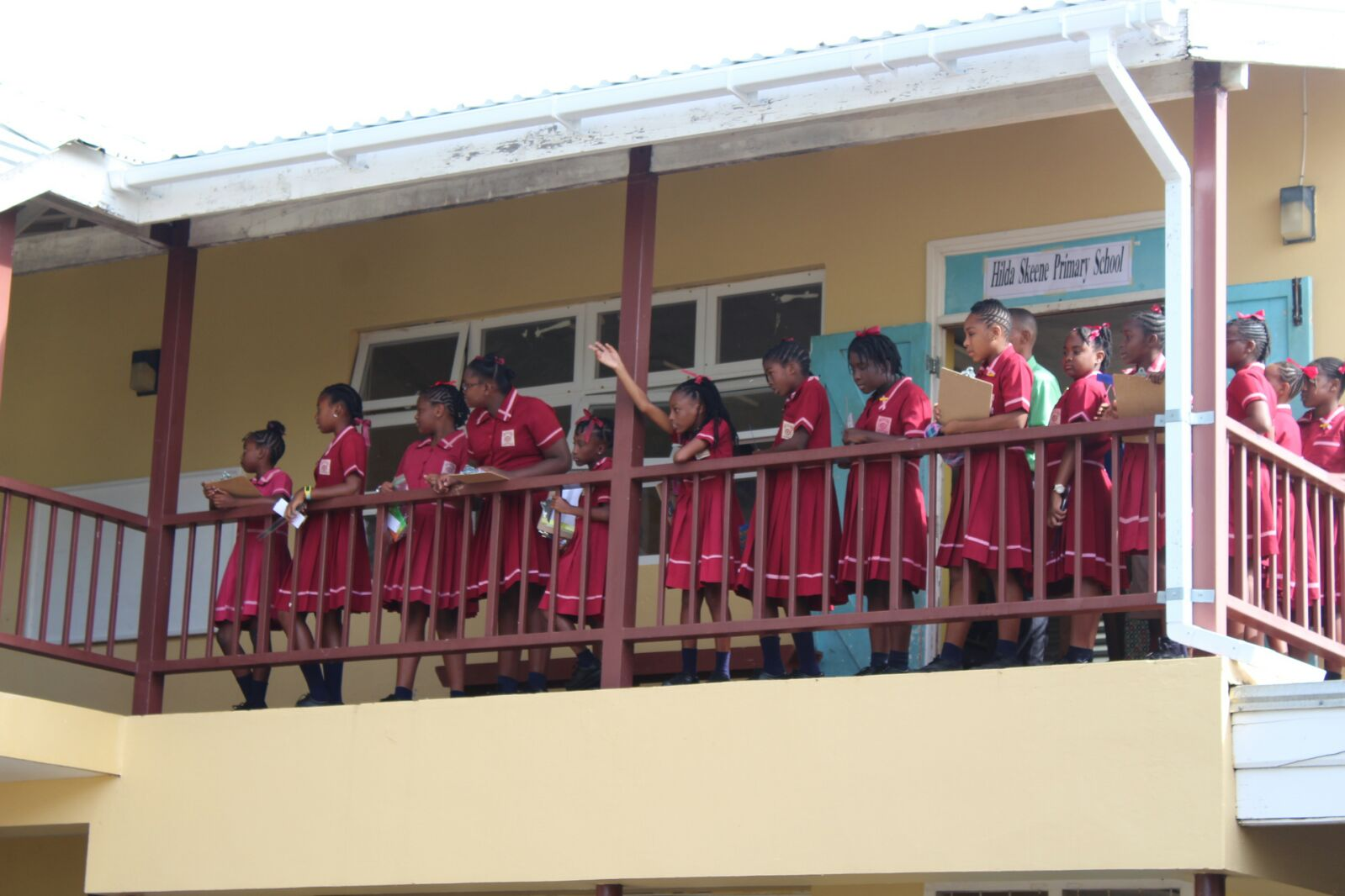 Students of Hilda Skeene Primary School at Princess Margaret Secondary in St Philip. (FILE)