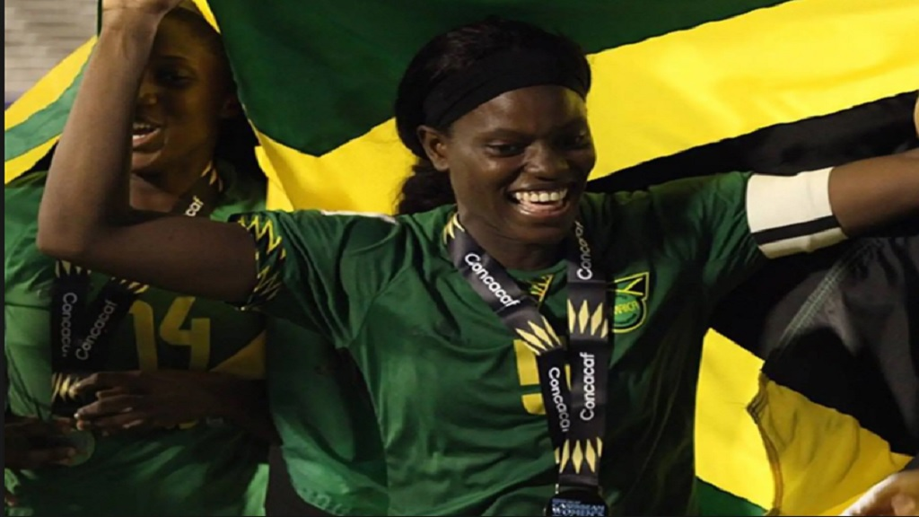 Reggae Girlz captain and central defender, Konya Plummer.