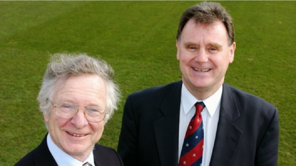 Tony Lewis (right) and Frank Duckworth.
