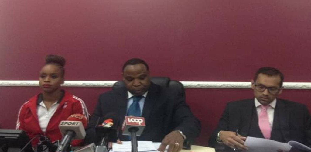 Attorney Keith Scotland (pictured centre) has been selected by the People's National Movement (PNM) to contest the Port of Spain South seat in the upcoming general election.
