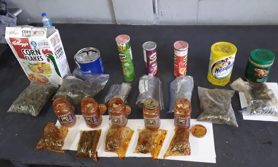 Drugs found and seized by police in a shipping container.