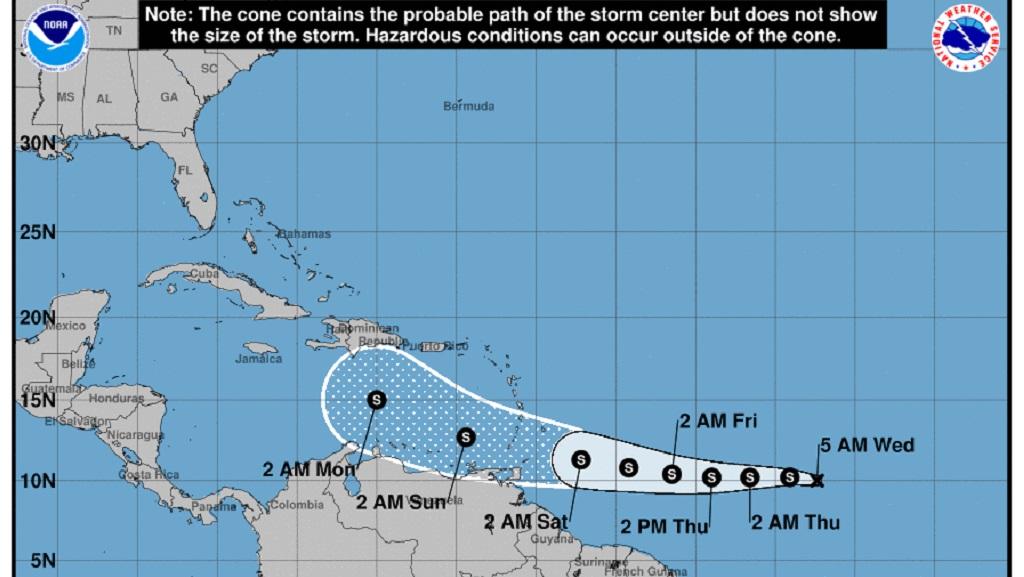 Photo courtesy the US National Hurricane Center (NHC).
