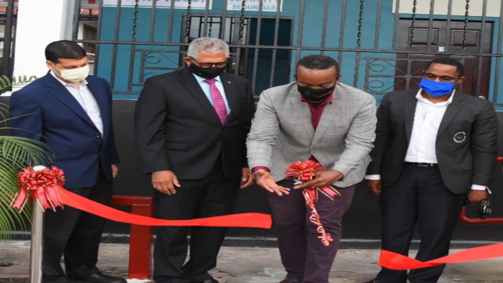 The Tunapuna Transit mall is open for business. Photo via Facebook, Public Transport Service Corporation.