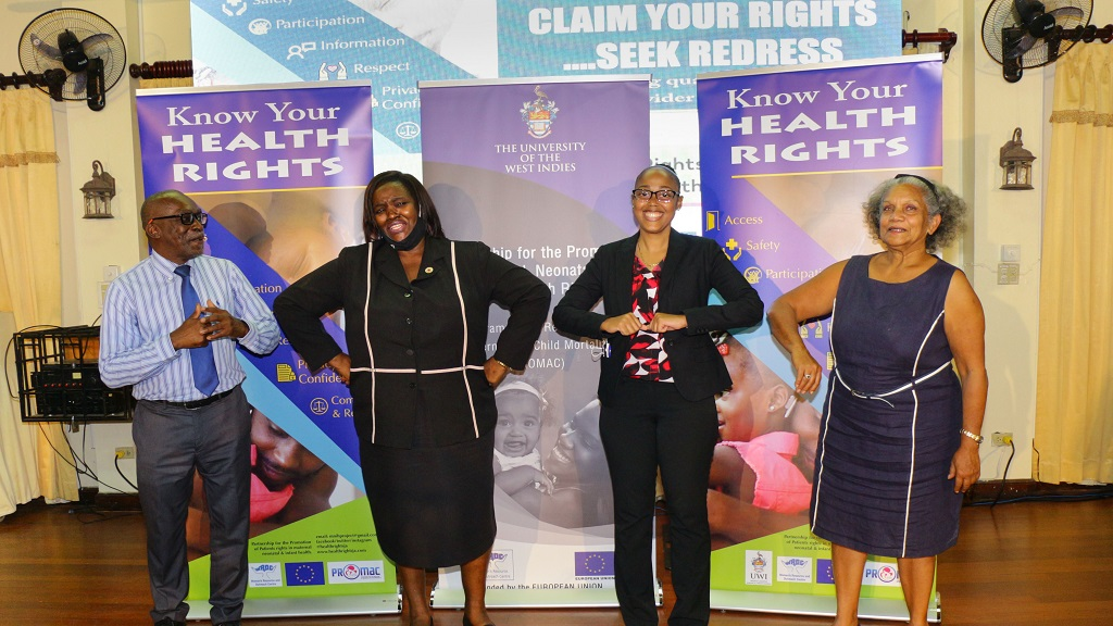 (From left) Professor Wendel Abel, Project Lead, Partership for the Promotion of Patients' Rights; Donna Thomas, Chairman, CVSS Health Sector; Dr Mindi Fitz Henley, 2nd VP Jamaican Medical Doctors Association; and  Arlene Harrison Henry, Public Defender at the launch.