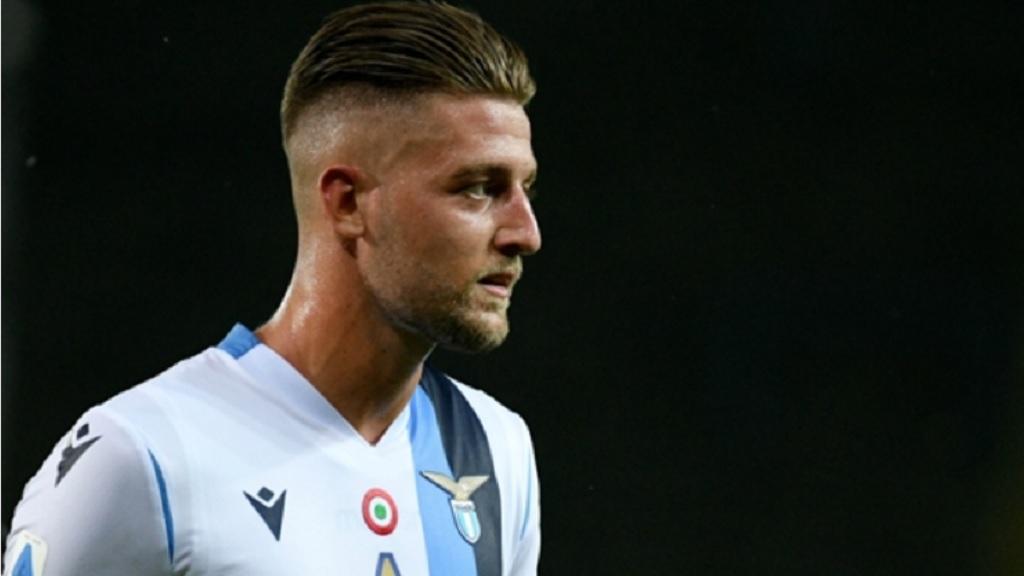Lazio's Sergej Milinkovic-Savic.