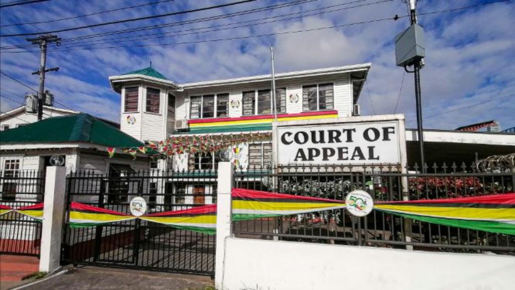 Guyana Court of Appeal. Photo: Dillon De Shong