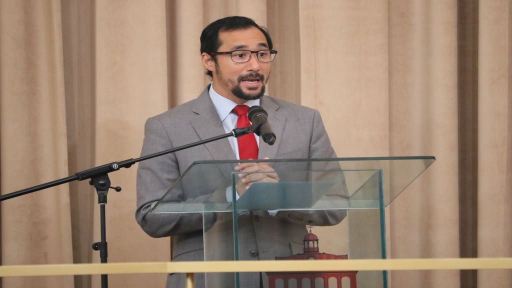 Pictured: National Security Minister Stuart Young. Photo via Facebook, Office of the Parliament of Trinidad and Tobago.