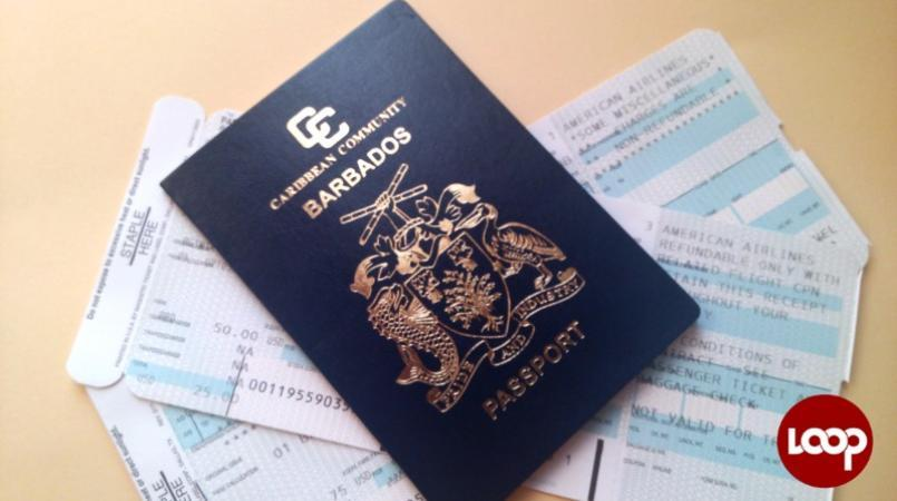 Barbados passport (FILE)