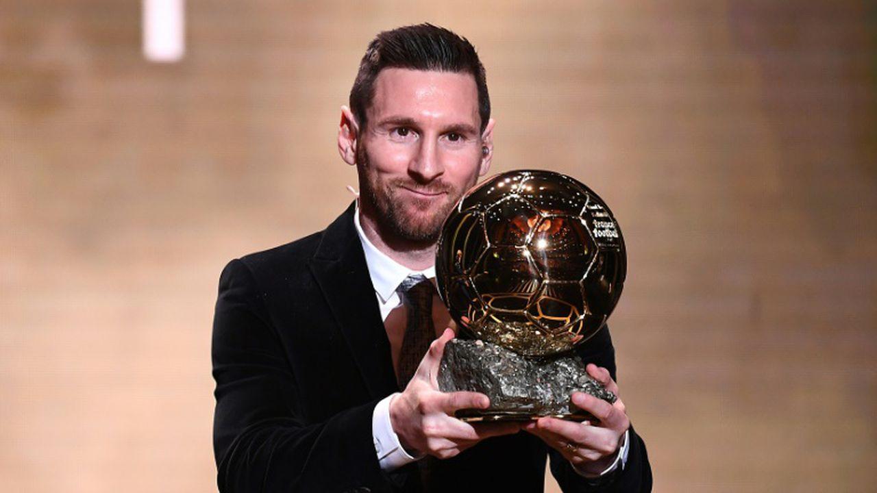 Lionel Messi sacré Ballon d'Or, pour la sixième fois, le 2 décembre 2019 à Paris (FRANCK FIFE)