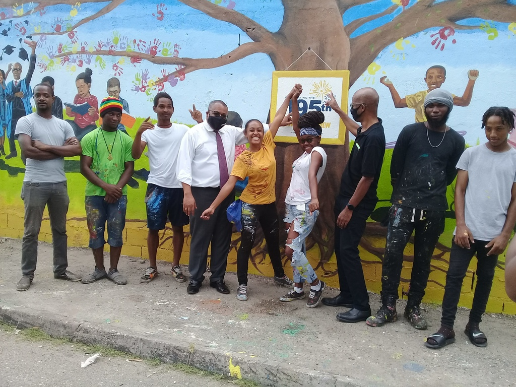 The mural was a combined effort by Wray and Nephew, Edna Manley College of the Visual and Performing Arts and residents of Waterhouse. (Photos:  Job Nelson)