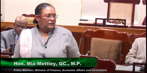 (FILE) Prime Minister Mia Mottley