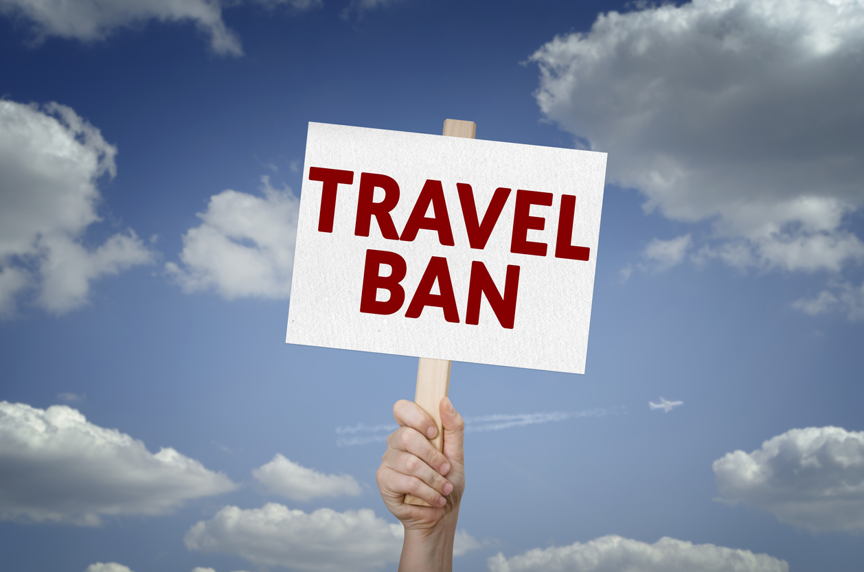 31 countries (listed below) have almost completely banned American travellers from crossing their borders. (iStock photo)
