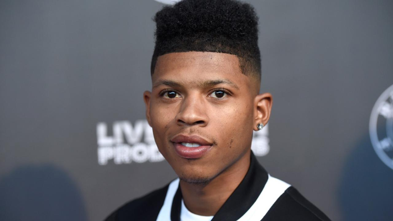 "In this June 21, 2017, file photo, Bryshere Y. Gray arrives at the Los Angeles premiere of ""Can't Stop, Won't Stop: A Bad Boy Story"" at the Writers Guild Theater in Beverly Hills, Calif. Gray has been arrested in Arizona on accusations of abusing his wife, police said. The Goodyear Police Department said 26-year-old Gray was booked into jail Saturday, July 11, 2020, KPNX-TV reported. (Photo by Chris Pizzello/Invision/AP)"