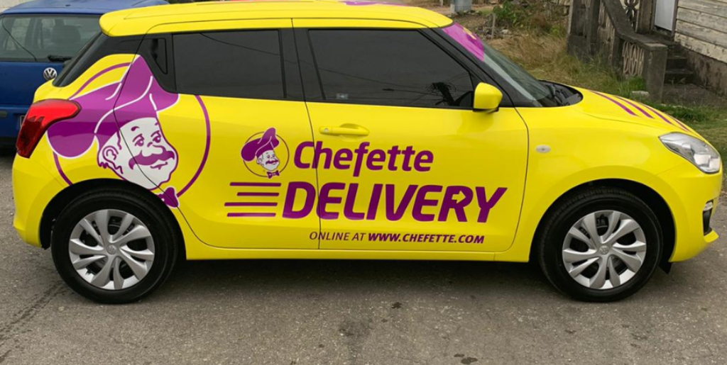 One of the vehicles in the Chefette delivery fleet.